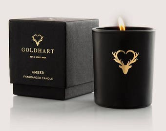 Gold Hart Amber Travel Candle