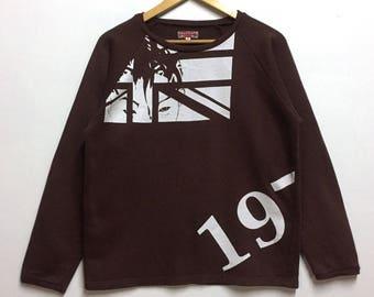 RARE!! Brown BOY LONON Sweatshirt With Great Britain Design!!
