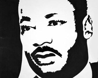 Martin Luther King Jr. Stencil