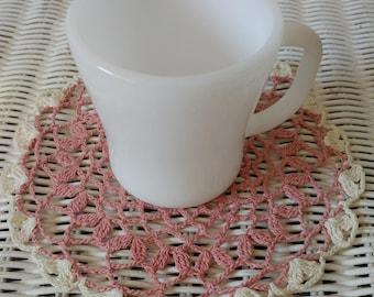 White  Milk Federal Glass Mug Cup