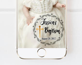 BAPTISM SNAPCHAT GEOFILTER, Cross Snapchat Geofilter, Baptism Party, Christening, Baptism Favor, Baptism Gift, Baptism Invite, Girl Baptism