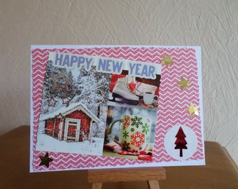 greeting card with red and white