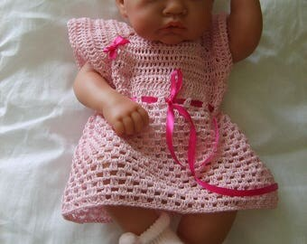 Pink baby dress 0/3 months