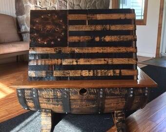 1776 Whiskey Barrel Table