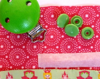 KIT pacifier Kit to make a pacifier clip or tie blanket - DIY