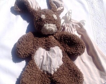 Stuffed plush soft brown rabbit