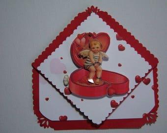 Map little angel in her heart box