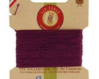 Cardboard 10 meters of AU Chinois linen thread no. 432, violet 218