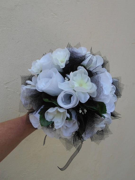 Bouquet De Mari E Noir Et Blanc En Fleurs Artificielles