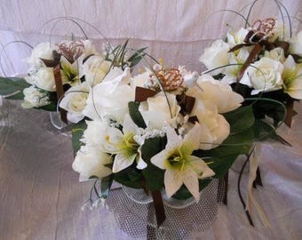 Bouquet for bride or bridesmaid ivory chocolate Bouquets