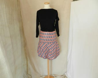Skirt, white and black balloon T40