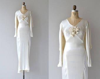 Inamourata Wedding gown | 1930s wedding dress • vintage 30s silk wedding gown