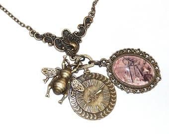 Pendant necklace Steampunk Vala