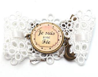 "Vintage bracelet ""I'm a fairy"""
