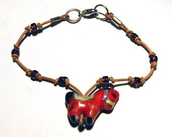 Bracelet Bohemian carousel horse ceramic bead