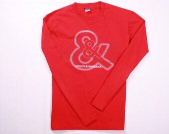 Vintage Dolce And Gabbana Big Logo Longsleeve shirt