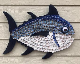 Bottle cap art Computer Fish