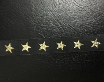 Ribbon black and gold stars