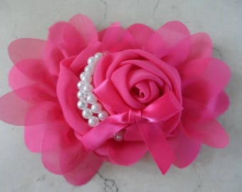 1 fuchsia 13 cm flower applique for sewing or craft