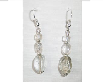 Glass bead earring
