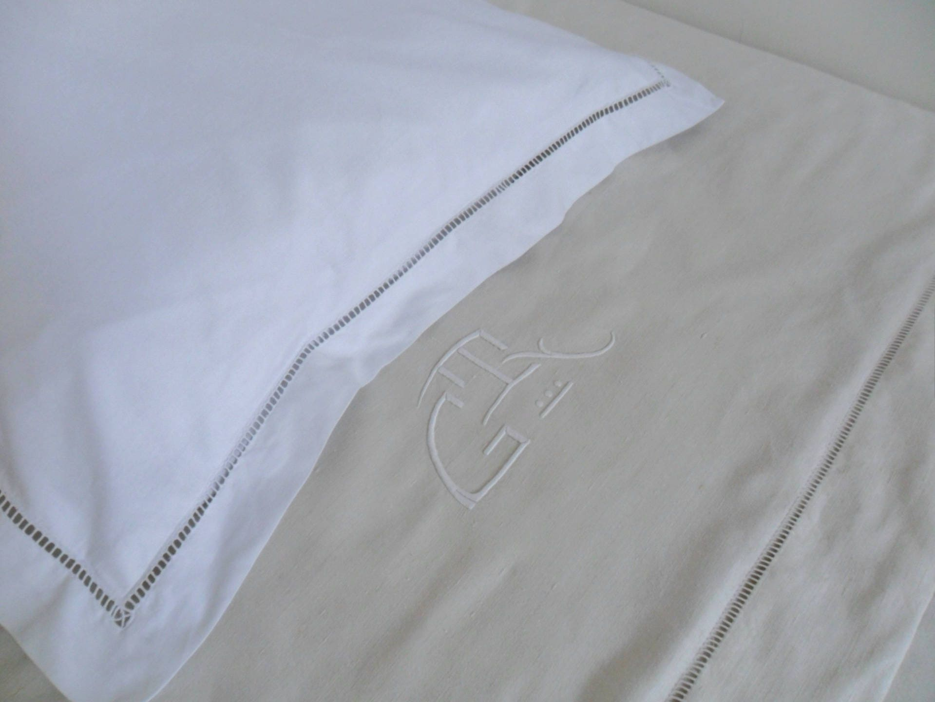 Housse de couette en lin et coton 150x200 cm 59x79 for Drap housse 150x200