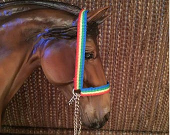 Model Horse Traditional (1:9 Scale) Grosgrain Grooming Halter