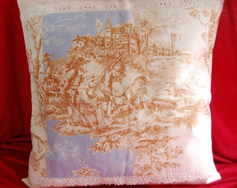 COVER of Pillow 40/40 French toile de jouy