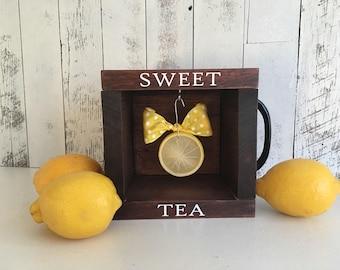 Sweet Tea Decor/Farmhouse Table Centerpiece/Sweet Tea/Sweet Tea Southern/Southern Decor/Hot Tea/Tea Decorations