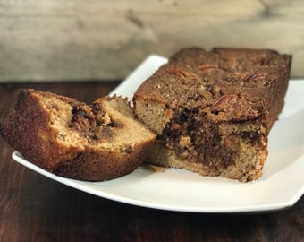 Paleo Pecan Coffee Cake Banana Bread