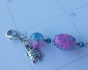 Mermaid Turtle Planner Charm