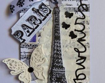Tag Eiffel Tower Paris - collage towel