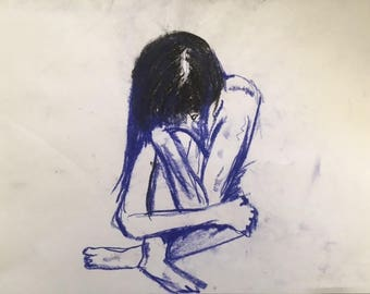 Blue Folded Girl