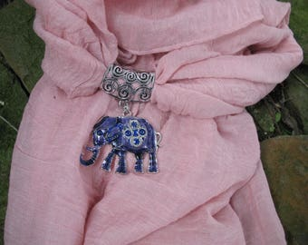 Scarf jewelry pink and elephant