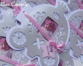 Share birth or baptism Cinderella, carriage, fairy tale