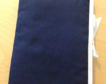 Health Book personalize flocking, applique etc. Navy blue fabric to choose outline color.