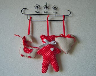 Hanging decorations, polka dot, set of three