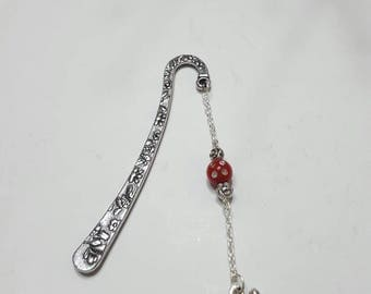 Small red cat bookmark