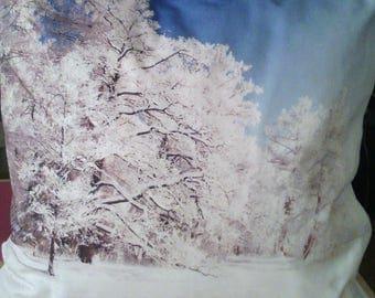 snowy landscape cushion