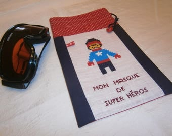 """""""My super hero mask"""" pouch"""