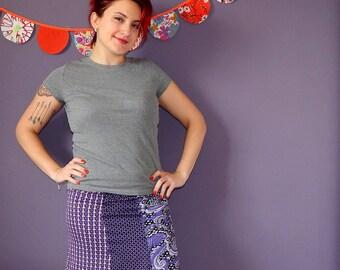 T.38 purple short skirt