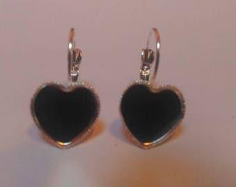 Supports heart earrings