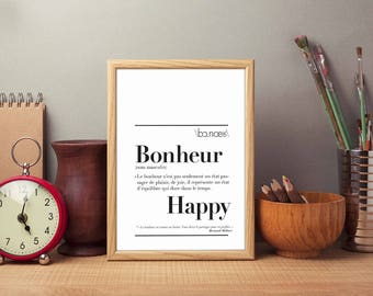 """Definition of """"Happiness"""" poster"""
