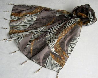 Scarf & pearls REF. 012 *-inspired africine