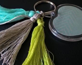 tassels and photo keychain