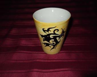 Tiger, salamander, dragon or tribal Phoenix custom hand painted porcelain mug