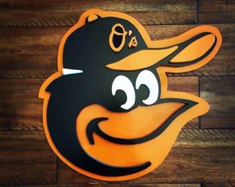 Baltimore Orioles Oriole Bird Logo Sign