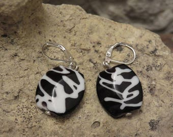 """Earrings sleepers """"collection black and white"""""""