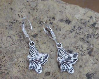 Earrings butterflies
