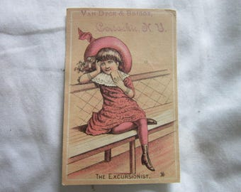 C 1880 Antique Victorian Trade Card Van Dyke & Briggs
