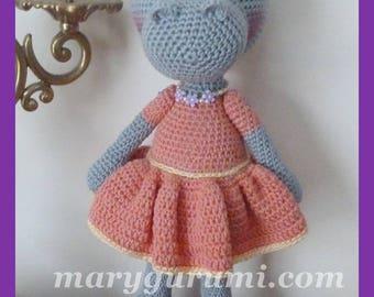 Hippo, Amigurumi crochet plush